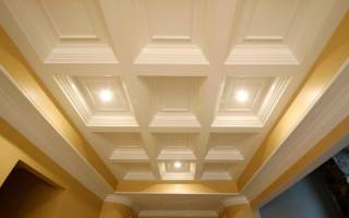 Кессонные потолки из полиуретана