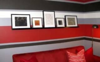 Окраска стен в разные цвета