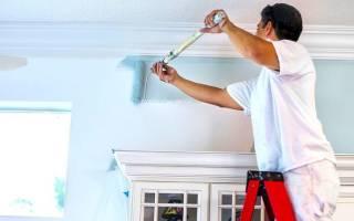 Покраска стен в квартире водоэмульсионной краской
