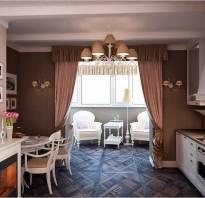 Как присоединить балкон или лоджию к кухне