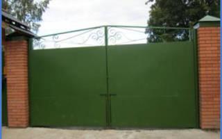 Ворота распашные размеры