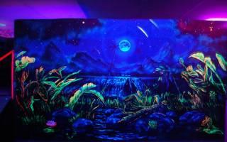 Покраска флуоресцентной краской