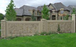 Забор из бетона фото