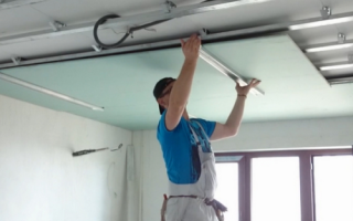 Потолок из гипсокартона размеры