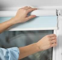 Правила установки рольштор на пластиковые окна