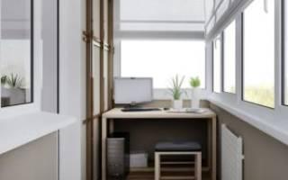 Рабочее место на балконе или лоджии