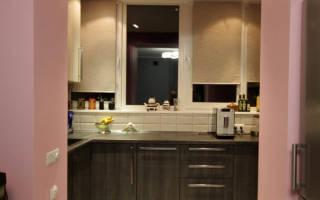 Способы обустройства кухни на лоджии