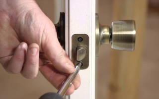 Как разобрать замок межкомнатной двери