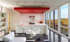 Потолок из гипсокартона для кухни фото