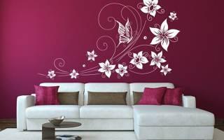 Трафаретная покраска стен
