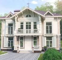 Красивые дома из красного кирпича