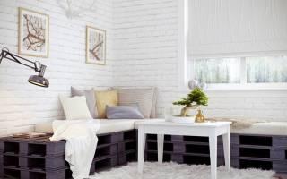 Обои белый кирпич спальня