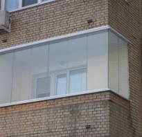 Устройство бескаркасного остекления балкона