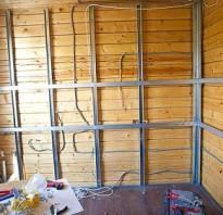 Как обшить деревянную стену гипсокартоном