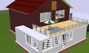Веранда с балконом к дому