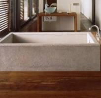 Ванна бетон и дерево