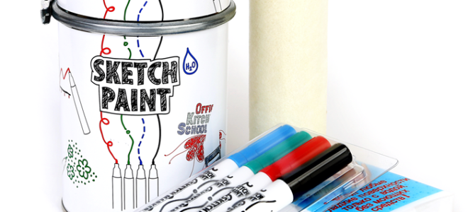 Краска для стен на которой можно рисовать