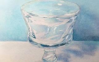 Как нарисовать стекло красками