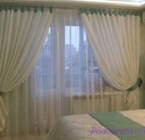 Выбор штор для спальни с балконом