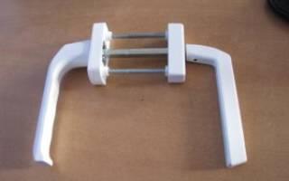 Двухсторонняя ручка для балконной двери