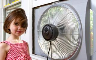 Вентилятор в окно