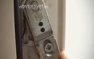 Как отрегулировать входную дверь пластиковую