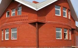 Дом из красного облицовочного кирпича