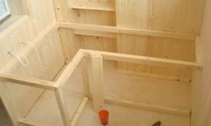 Монтаж скамьи с ящиком для хранения на балконе