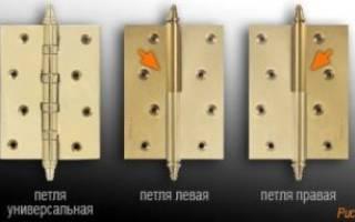 Как выбрать петли для межкомнатных дверей