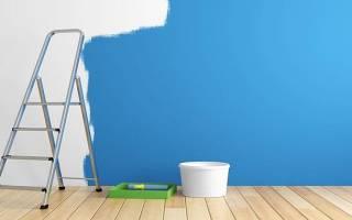 Стены окрашиваются влагостойкими красками для внутренней отделки