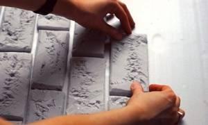 Декоративный кирпич из картона