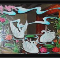 Рисование по стеклу акриловыми красками