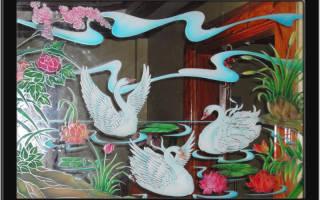 Рисование на стекле красками